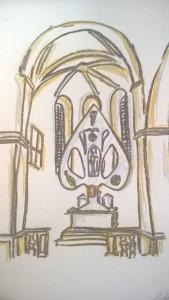 Skica nového oltáře