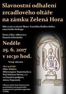 Plakát ZH oltář